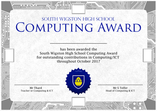 Computing Certificate