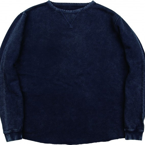 FRENCH THERMAL CREWNECK -BLACK-