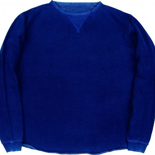 FRENCH THERMAL CREWNECK -BLUE-