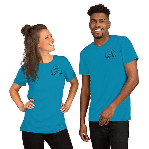 Black Logo Short-Sleeve Unisex T-Shirt
