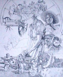 Pioneer Crossing Drawing