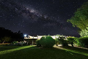 Milky Way over guest cottage at Lonely Goat Olives
