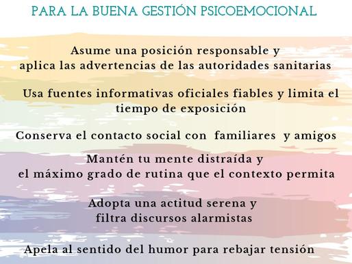 GESTION EMOCIONAL FRENTE EL CORONAVIRUS