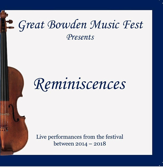 Great Bowden Music Fest 'Reminiscences' Double CD