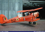 Stampe Vertongen SV-4B V-52 during its glider towing days which explains the presence of a towing hook under the tail