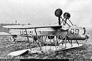 Stampe Vertongen SV-4B V-60 after it overturned on landing at Goetsenhoven on 17 September 1957. The aircraft was not repaired.