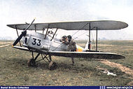 Stampe Vertongen SV-4B V-33 in early silver finish seen at Goetsenhoven airbase in the early fifties.