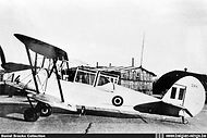Stampe Vertongen SV-4B V-14 at Koksijde airbase in the early fifties.