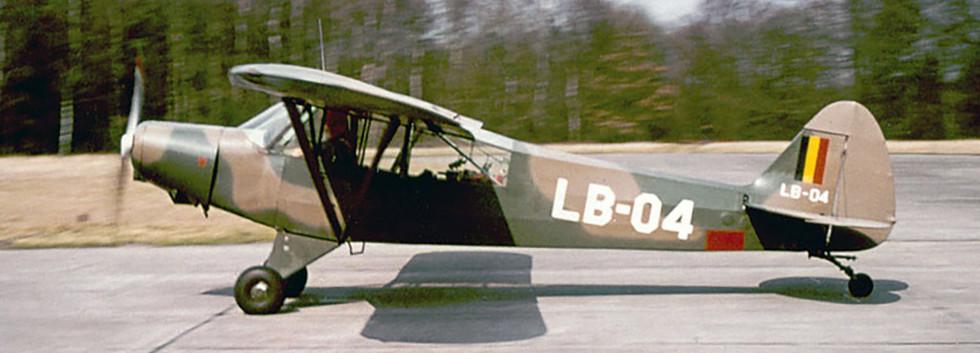Piper L-21B Super Cub LB-04 at Zoersel airfield.