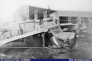 Auster A.O.P. 6 A-19 crash landed at Etterbeek (Brussels) after a mid-air collision with A-10 on 4 December 1950.