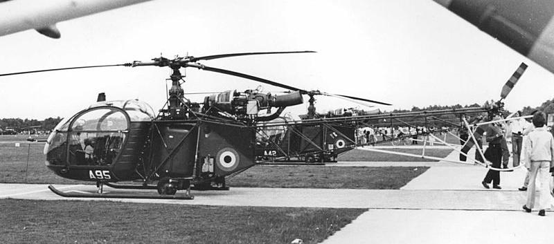 Aerospatiale Alouette II A-95 at Brasschaat on 22 May 1979.