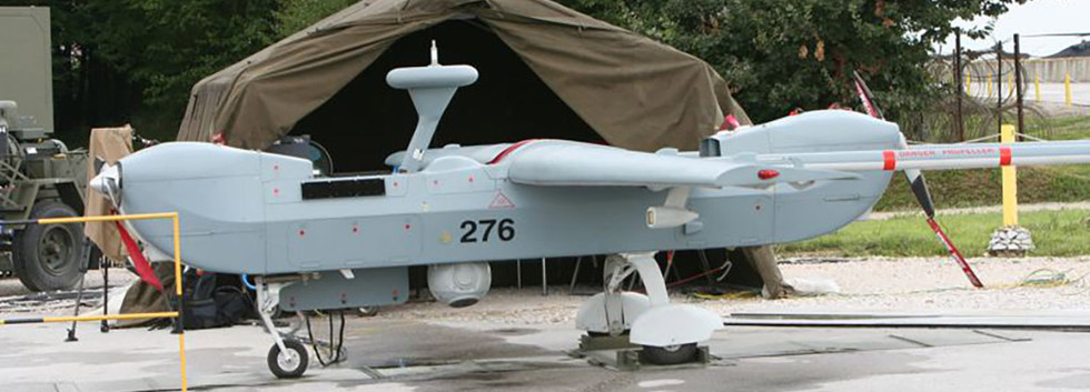 IAI B-Hunter 276 of the 80th UAV Squadron during its deployment to Tuzla airbase, Bosnia-Herzegovina pictured on August 24th, 2005.