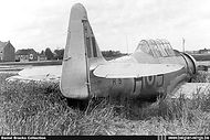 North American AT-6D Harvard III H-5 after an emergency  belly landing at Kampenhout on 29 April 1953.