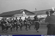 Gloster Meteor T.7 ED-39 displayed during the Wings Parade ceremony of N° 132 Promotion at Brustem airbase on 10 May 1957.