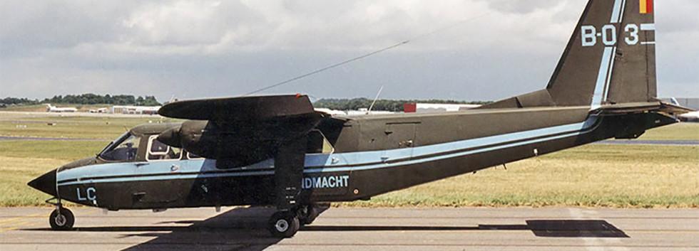 Britten Norman BN2B-21 B-03 seen at the Bierset airshow on 3 June 2001.