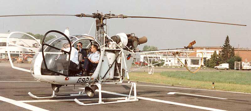 Alouette II G-92 seen at Antwerpen Deurne Aiport on 2 May 1995.