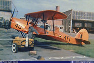 Student-pilot Jules Jacob posing in front of Stampe Vertongen SV-4B V-40 at Goetsenhoven airbase.