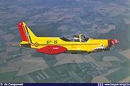 Marchetti ST-15 in flight.