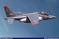 AMD Alpha Jet  1B AT-29 making a loop in 1995.