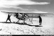 Auster A-2 participated in the 1958 Belgian South-Pole expedition. The aircraft was written off near Mount Belgica (Antarctica)
