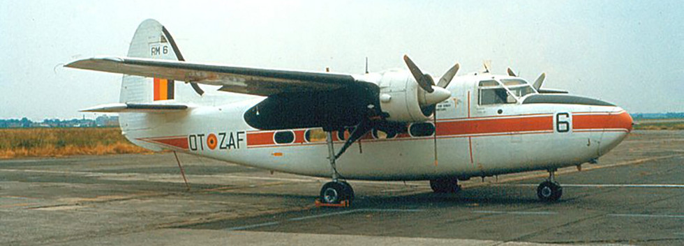 Percival Pembroke C.51 RM-6/OT-ZAF at Melsbroek airbase in the early seventies.