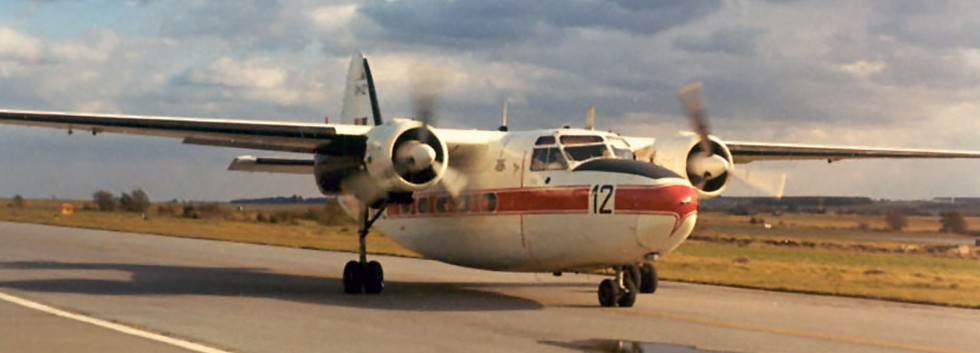 Percival Pembroke C.51 RM-12/OT-ZAL taxiing to the main runway at Florennes  airbase in the early seventies.
