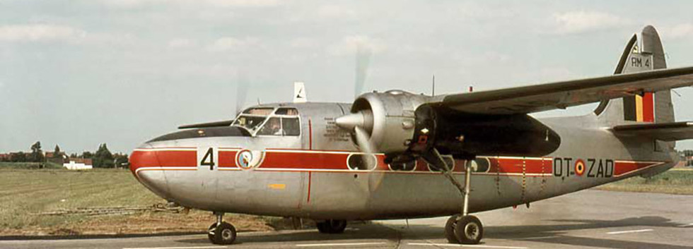 Percival Pembroke C.51 RM-4/OT-ZAD arriving at Koksijde airbase in the late sixties.