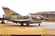 Dassault Mirage 5BD BD-02 in the static display of the Florennes Airshow on 21 June 1975. Less than a month later, on 14 July 1975 this aircraft crashed due to engine problems. Fortunately both crew members successfully bailed out.