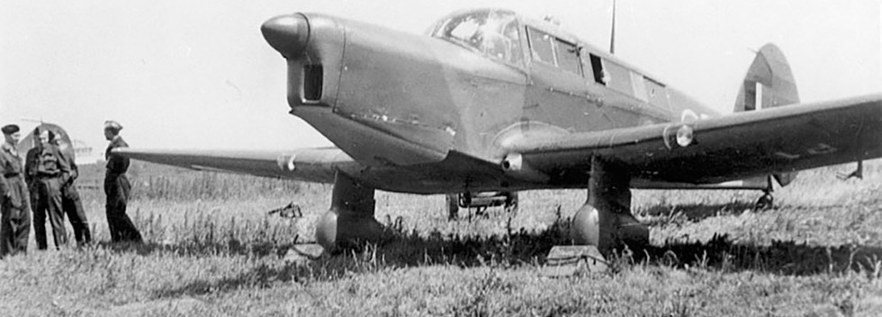 Percival Proctor 4 P-1 still in RAF-camouflage seen at Evere in 1947/48.