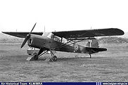 Camouflaged Auster A.O.P. 6 A-12 at Schaffen-Diest airfield in the early fifties.