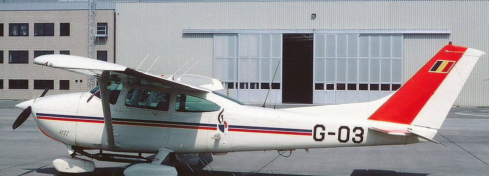 The replacement Cessna G03 at Melsbroek airbase.