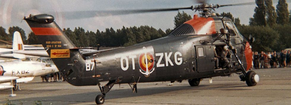 Sikorsky HSS-1 B-7/OT-ZKG during the Beauvechain airshow on June 26th, 1966.