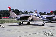 Alpha Jet AT21 at Brustem airbase on 25 July 1980.