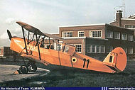 Stampe Vertongen SV-4B V-11 at Goetsenhoven airbase in the early sixties.