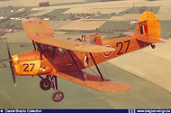 Stampe Vertongen SV-4B V-27 in flight near its homebase Goetsenhoven in the late sixties.