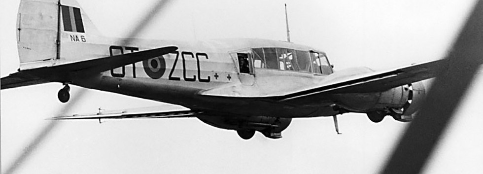 Avro Anson I NA-6/OT-ZCC in flight in the early fifties.