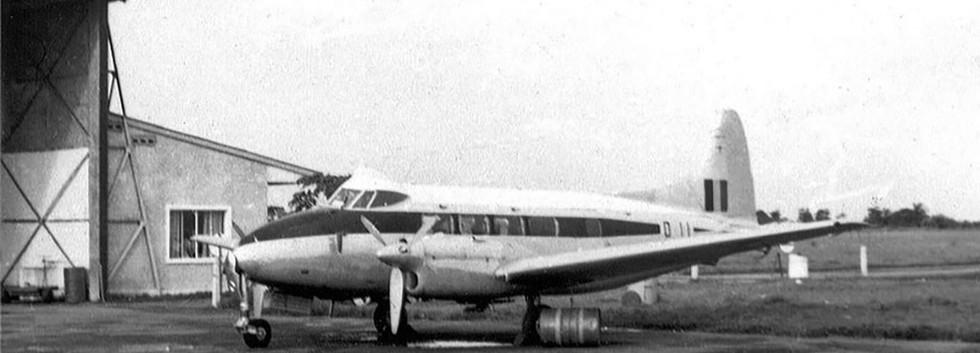 De Havilland DH.104 Dove 2 D-11 at Kindu airfield in former Belgian Congo in 1960.