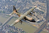 CH-10 in flight over Namur.