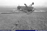 Auster A.O.P. 6 A-6 was written off in this landing accident at Brasschaat airfield on 18 December 1953.