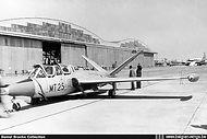 Fouga CM.170 Magister MT-25 in the static display of the Melsbroek Open Door on 25 June 1961.