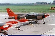 Siai Marchetti ST-29 on the apron of Goetsenhoven airbase on April 29th 1983.