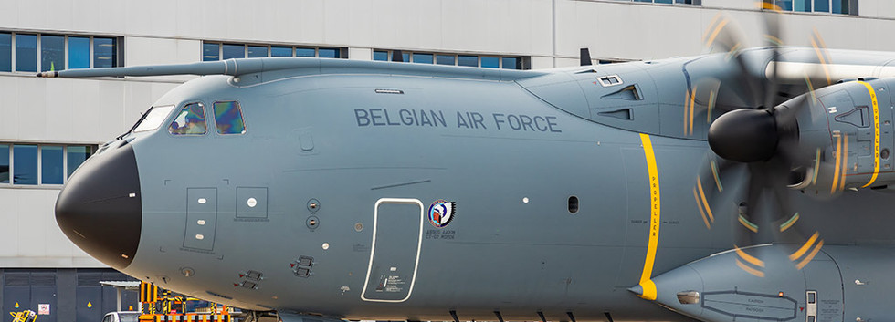 CT-02, the first Belgian Air Force A400M is expected in December 2020 and is undergoing some further testing at the Airbus plant at Sevilla as seen here on 30 Septmber 2020.