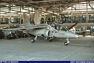 Factory fresh Alpha Jet AT33 in its hangar at Brustem on July 25th, 1980 - only ten days after its delivery to the Belgian Air Force.