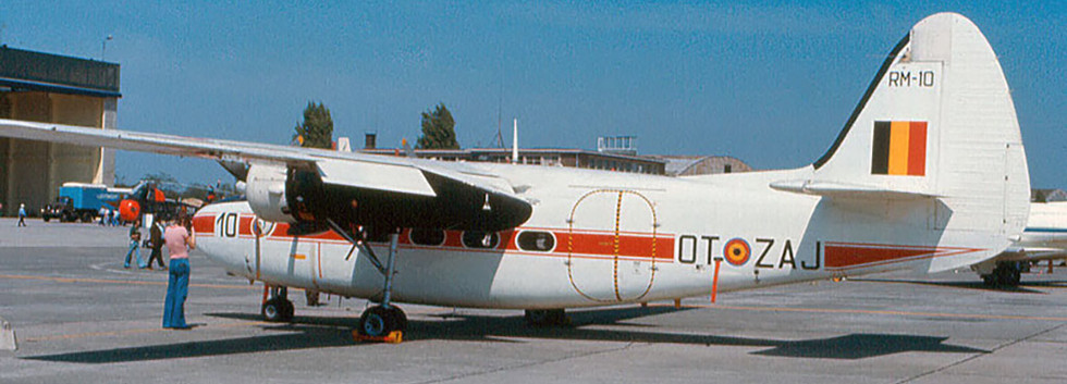 Percival Pembroke C.51 RM-10/OT-ZAJ at Melsbroek airbase during an Open Door at the base in 1976.