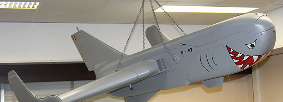 MBLE Epervier D-07 preserved in the briefing room of the 80th UAV Squadron at Florennes aibase.