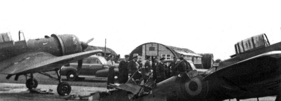 Miles Martinet TT.1 R-3 was victim of a ground collision with R-7 at Koksijde on July 7th, 1949. The aircraft was written off.