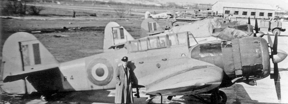 Miles Martinet TT.1 R-4 target-towing aircraft seen at the Fighter School at Koksijde airbase in the early fifties.