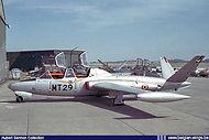 Potez-Air Fouga CM-170 Magister MT-29 at Bierset airbase.