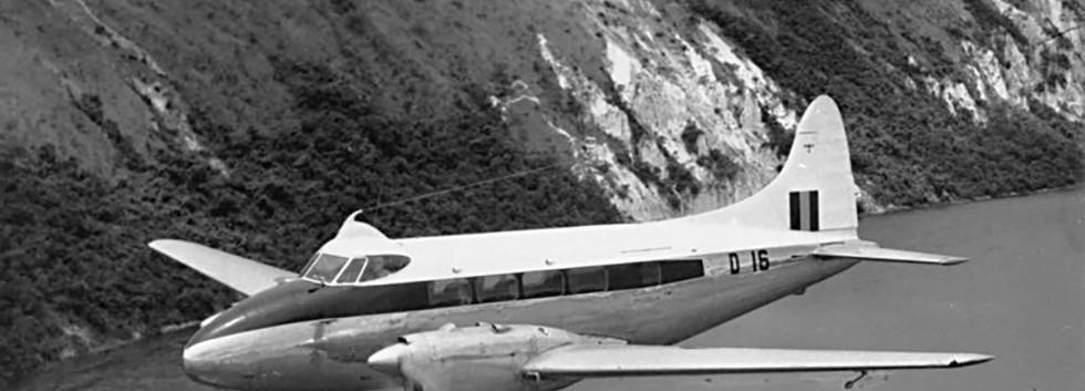 De Havilland DH.104 Dove 1B D-16 in flight in the fifties.