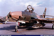 Pilot Lt Raymaeckers in Republic RF-84F Thunderflash FR-31 at Bierset airbase.